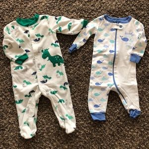 Other - Set of 2 baby boy pajamas, 3-6mo
